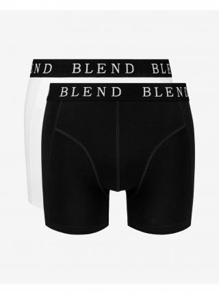 Boxerky pre mužov Blend - čierna, biela pánské L
