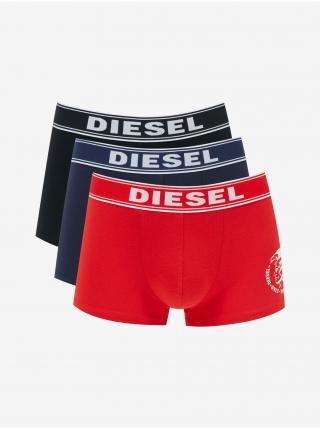 Boxerky pre mužov Diesel - čierna, modrá, červená pánské M