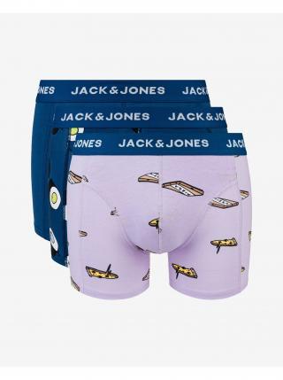 Boxerky pre mužov Jack & Jones - modrá, fialová pánské S