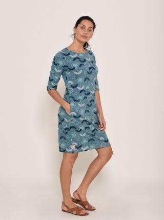 Brakeburn Blue Floral Dress dámské modrá XXL