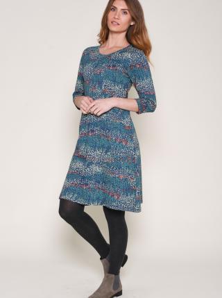 Brakeburn Blue Patterned Dress dámské modrá S