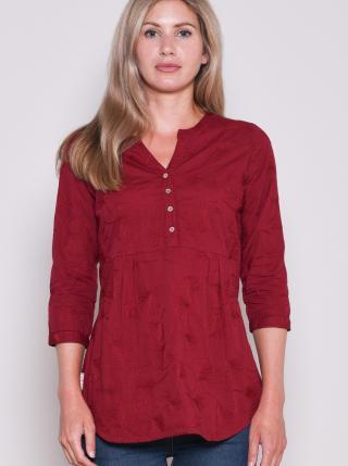 Brakeburn Burgundy Patterned T-Shirt dámské vínová M