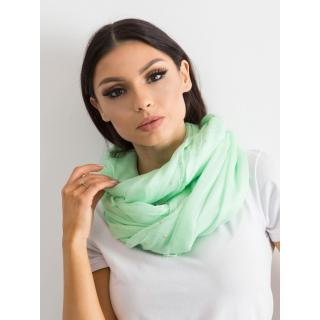 Bright green scarf with rhinestones dámské Neurčeno One size