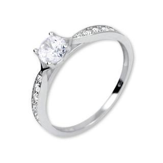 Brilio Nádherný prsteň s kryštálmi 229 001 00753 07 60 mm