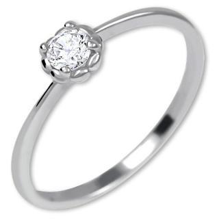 Brilio Nežný zásnubný prsteň zo zlata 226 001 01034 07 55 mm