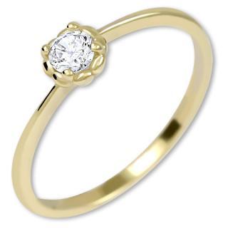 Brilio Nežný zásnubný prsteň zo zlata 226 001 01034 55 mm