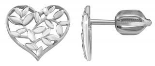 Brilio Silver Strieborné náušnice Srdce 431 001 02762 04 dámské