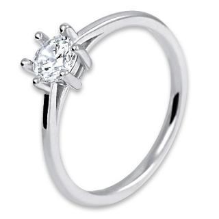 Brilio Silver Strieborný zásnubný prsteň 426 158 00102 04 54 mm