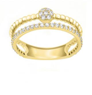 Brilio Silver Úchvatný pozlátený prsteň so zirkónmi GR063Y 48 mm dámské
