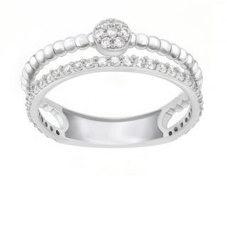 Brilio Silver Úchvatný strieborný prsteň so zirkónmi GR063W 48 mm dámské