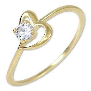 Brilio Zásnubný prsteň s kryštálom Srdce 226 001 01033 49 mm