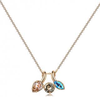 Brosway Pozlátený náhrdelník s kryštálmi Affinity BFF71