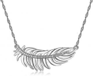 Brosway Romantický náhrdelník s pierkom Plume BUM01