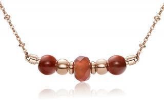 Brosway Ružovo pozlátený oceľový náhrdelník Trés Jolie BTJMS658