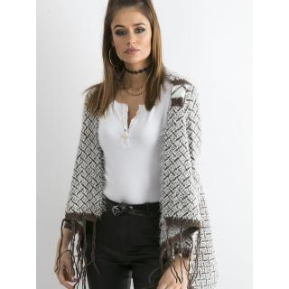 Brown fringed sweater dámské Neurčeno M