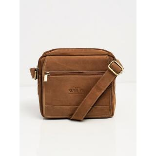 Brown leather men´s handbag Other One size