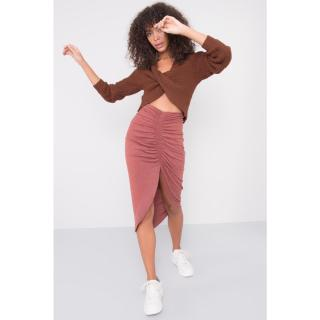 BSL Brick-red fitted women´s skirt dámské Neurčeno XS