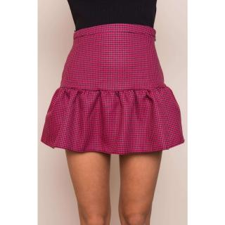 BSL Dark pink mini skirt with a frill dámské Neurčeno L