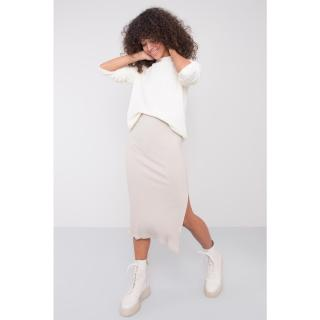 BSL Light beige fitted skirt dámské Neurčeno M