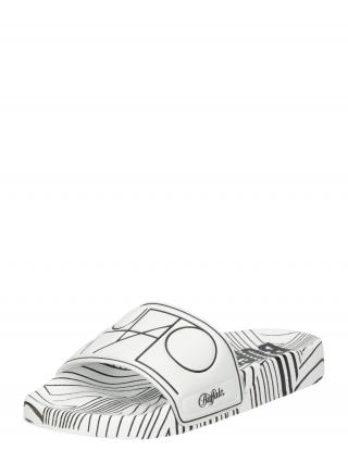 BUFFALO Šľapky RONA  biela / čierna dámské 37
