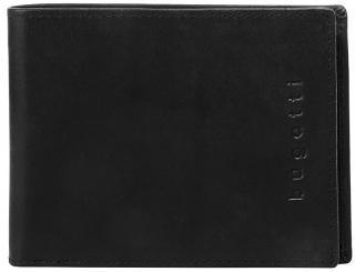 Bugatti Pánska kožená peňaženka Romano 49399401 Black pánské