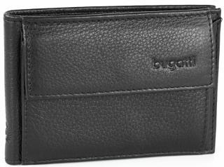 Bugatti Pánska kožená peňaženka Sempre 49118001 Black pánské