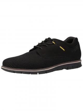 bugatti Šnurovacie topánky Simone  čierna / žltá / sivá pánské 43