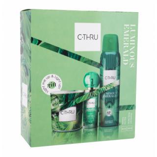 C-THRU Luminous Emerald darčeková kazeta toaletná voda 30 ml   dezodorant 150 ml   sviečka pre ženy dámské
