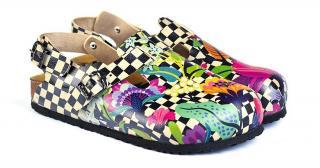 Calceo farebné sandále Classic Sandals Chessboard - 36 dámské farebná 36