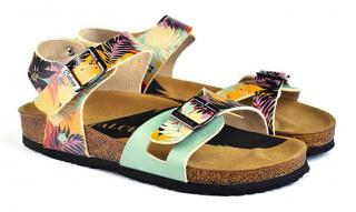Calceo farebné sandále Classic Sandals Tropical - 40 dámské farebná 40