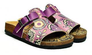 Calceo fialové šľapky Casual Slippers Purple - 36 dámské fialová 36