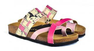 Calceo ružové šľapky Thong Sandals - 36 dámské ružová 36