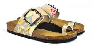 Calceo žlté šľapky Thong Sandals Mandala - 37 dámské žltá 37