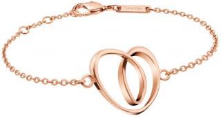 Calvin Klein Bronzový náramok so srdcom Warm KJ5APB100100 dámské