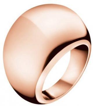 Calvin Klein Bronzový prsteň Ellipse KJ3QPR1001 52 mm dámské