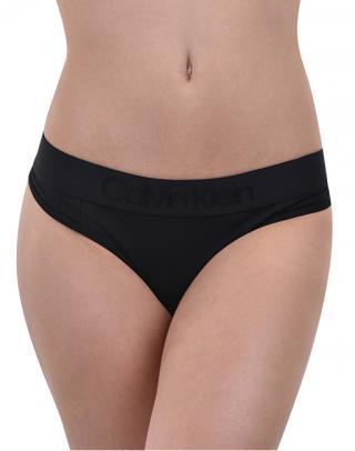 Calvin Klein Dámske nohavičky Tonal Logo Thong QF4942E-001 Black L dámské