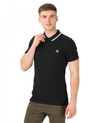 Calvin Klein Essentials Polo tričko Čierna pánské XXL