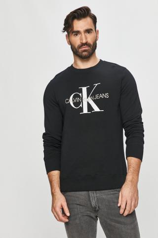 Calvin Klein Jeans - Bavlnená mikina pánské čierna S