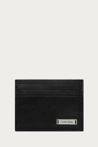 Calvin Klein Jeans - Kožená peňaženka pánské čierna ONE SIZE