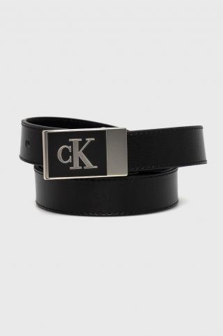Calvin Klein Jeans - Kožený opasok dámské čierna 80