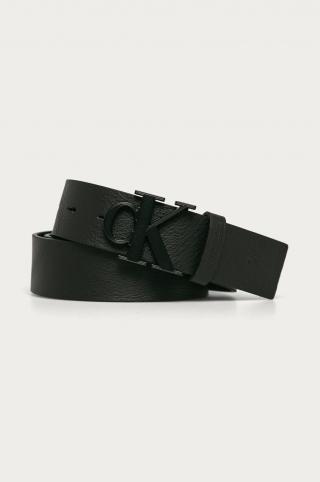 Calvin Klein Jeans - Kožený opasok pánské čierna 110
