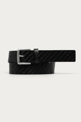 Calvin Klein Jeans - Kožený opasok pánské čierna 95