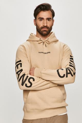 Calvin Klein Jeans - Mikina pánské béžová M