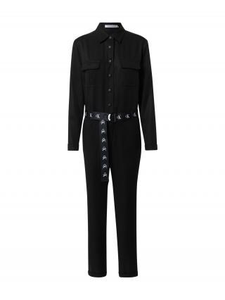Calvin Klein Jeans Overal  čierna / biela dámské S