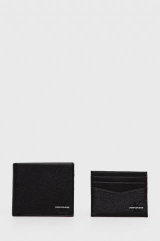 Calvin Klein Jeans - Peňaženka a kožený obal na karty pánské čierna ONE SIZE