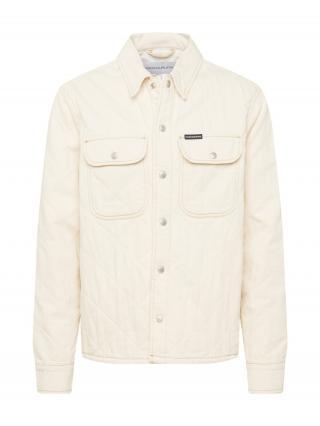 Calvin Klein Jeans Prechodná bunda  biely denim pánské XS