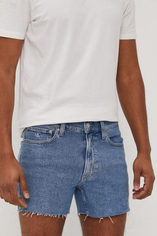 Calvin Klein Jeans - Rifľové krátke nohavice pánské modrá 36