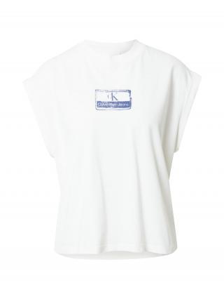 Calvin Klein Jeans Tričko  biela / modrá dámské XS