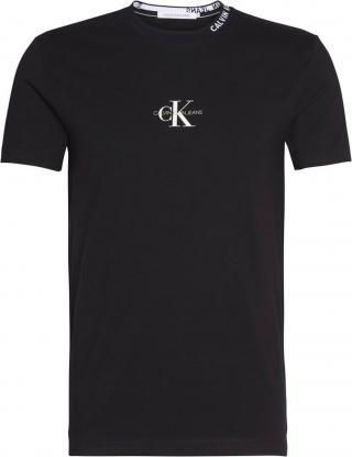 Calvin Klein Jeans Tričko  čierna / biela pánské S