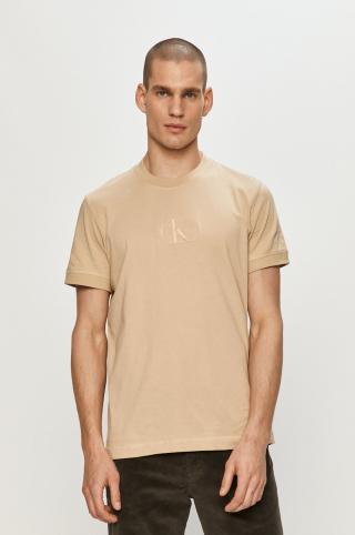 Calvin Klein Jeans - Tričko pánské béžová S